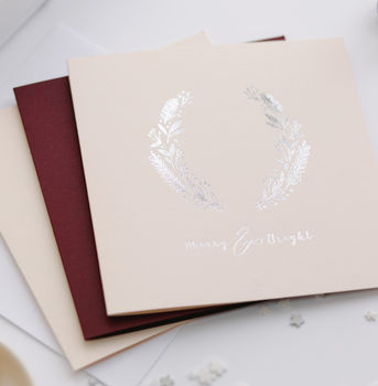 10 Luxury Hot Foil Christmas Cards With Gift Box