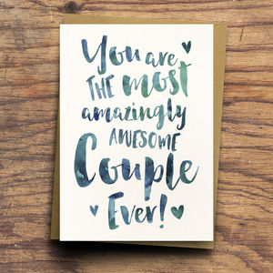 'The Most Amazingly Awesome Couple' Greeting Card - cards sent direct