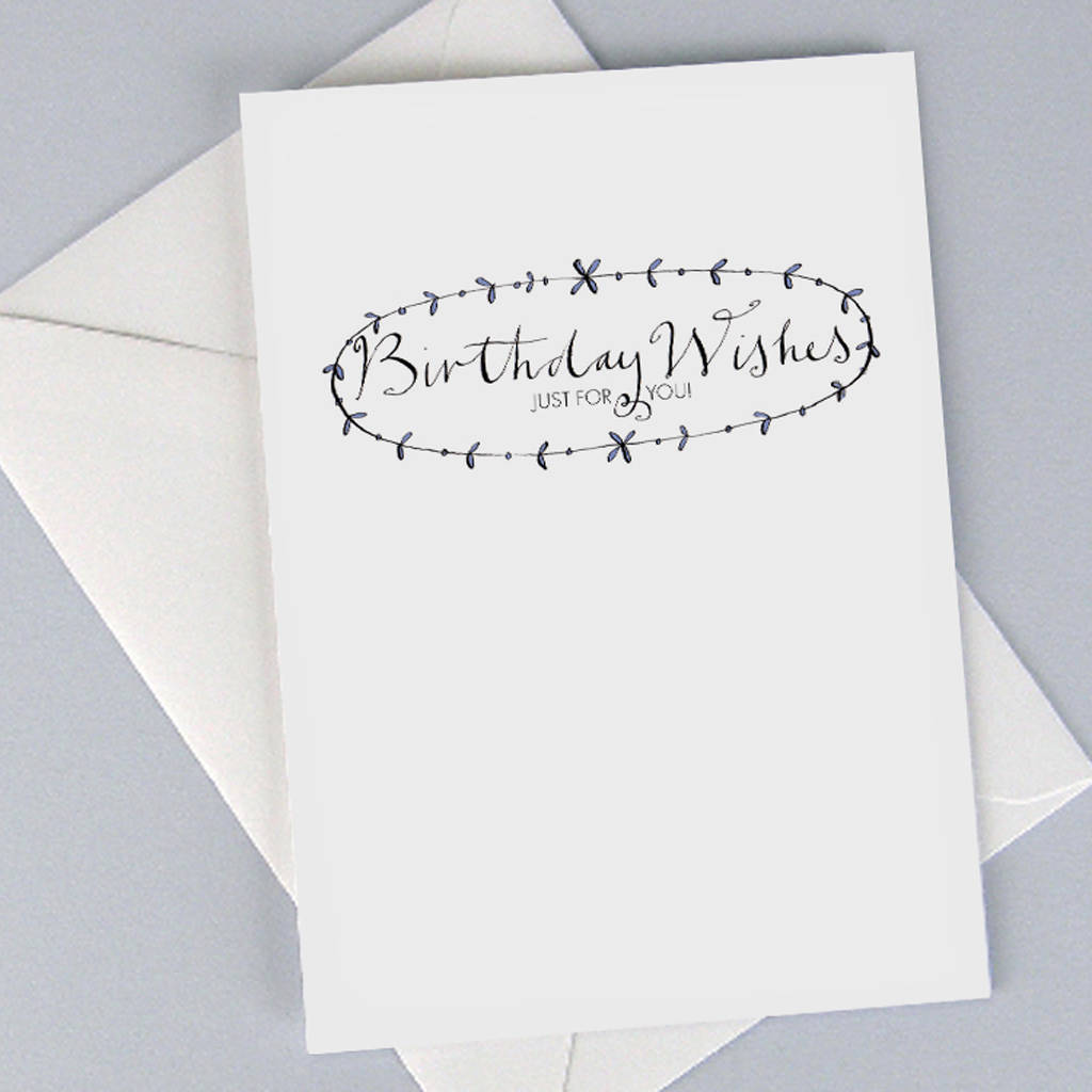 'birthday Wishes Just For You' Birthday Card By Gabrielle