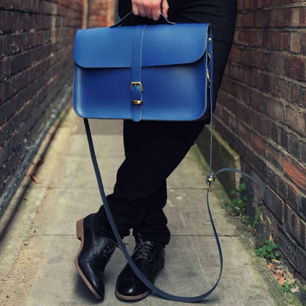 Leather Retro Briefcase Satchel