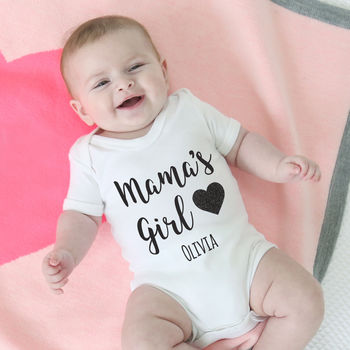 Personalised 'Mama's Girl' Bodysuit