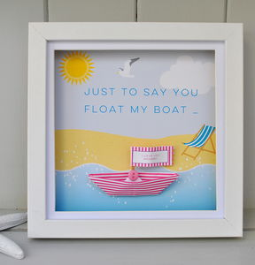 Personalised Paper Boat Picture Frame