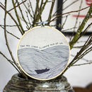 Little Boat At Sea Fabric Hoop