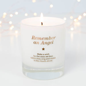 Make A Wish To Remember An Angel Candle - candles & candlesticks