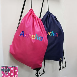 Pe/Gym Bag Personalised Rainbow