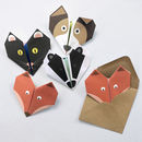 Origami Notepaper Set : Animal Set One