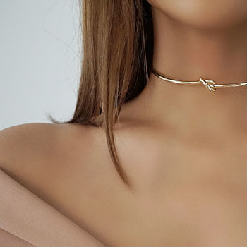 Knot Choker Necklace | Gold Or Silver