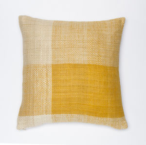 Handspun And Handwoven Eri Silk Cushion, Naturally Dyed