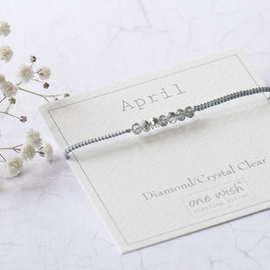 April Birthstone Bracelet Woven With Silk - personalised jewellery