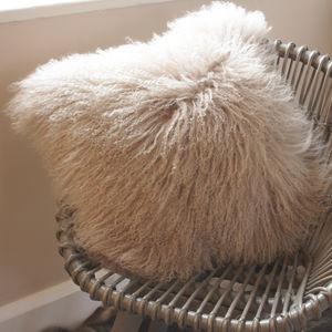 Organic Curly Lamb Cushion - cushions