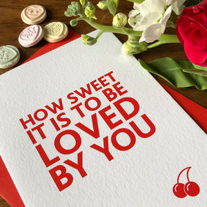 'How Sweet' Letterpress Valentine's Card - cards & wrap