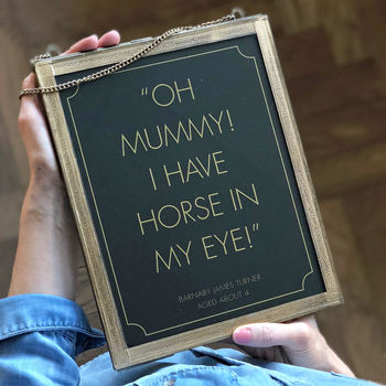 Personalised Kid Quote Print