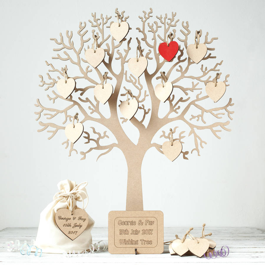 Wishing Tree Large Wooden Guest Book