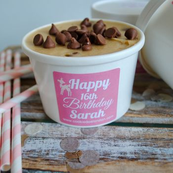 Personalised Edible Cookie Dough Tubs
