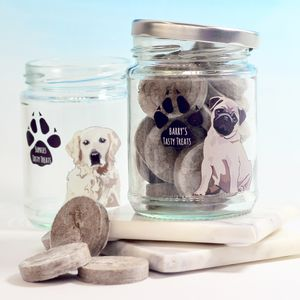 Personalised Dog Treat Jar - storage & organising