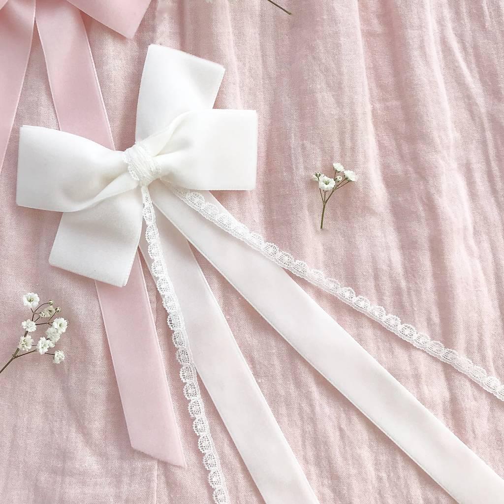 5cf30d51539b0 Flower Girl Velvet Hair Bow/ Alice