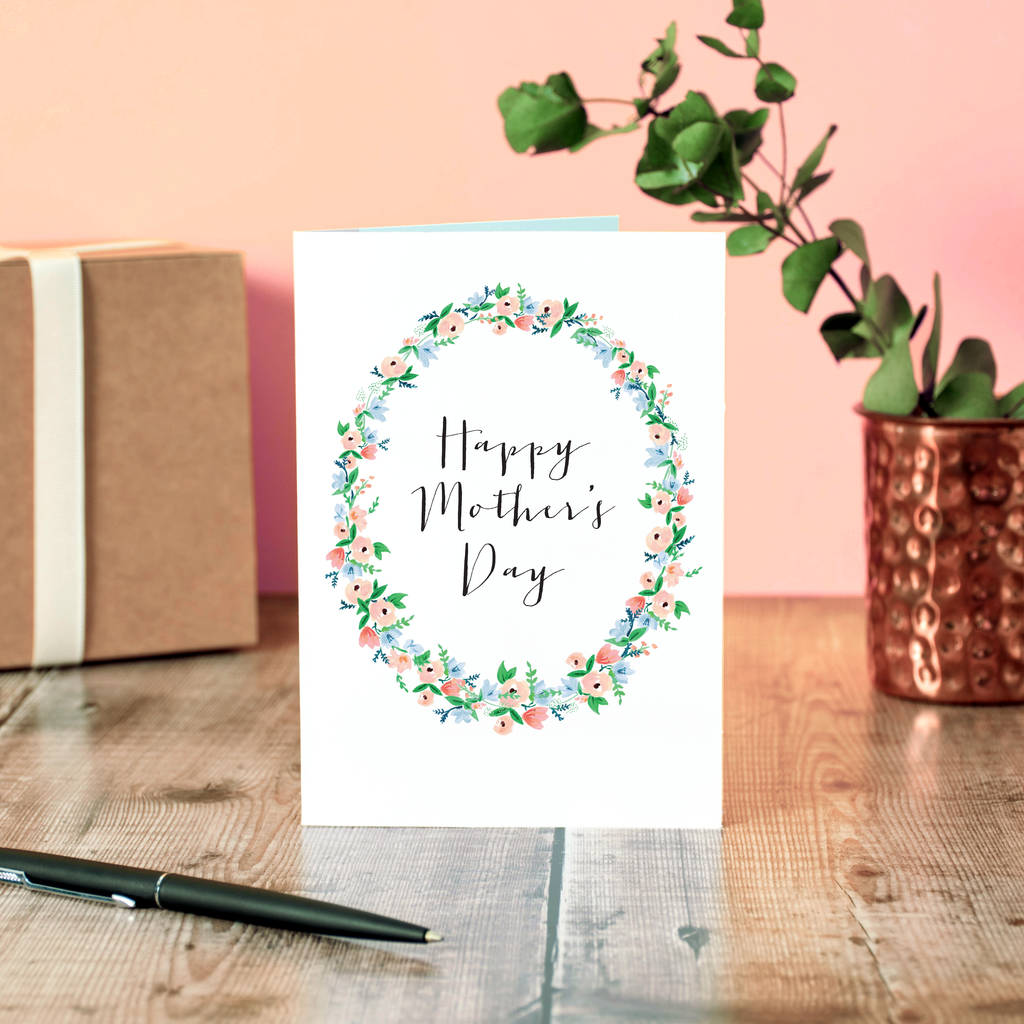 Elegant floral mother 39 s day card by oops a doodle for Classy mothers day cards