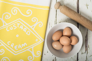 Custard Cream Tea Towel - kitchen accessories