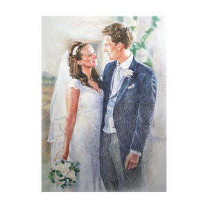 Personalised Wedding Portrait Pencil Drawing