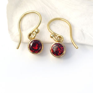 Birthstone Earrings In 18ct Gold - precious gemstones
