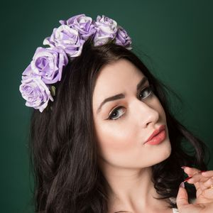 Marbled Rose Floral Crown