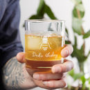 Personalised Whiskey Glass Bee