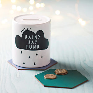 Personalised 'Cloud' Moneybox - storage & organisers