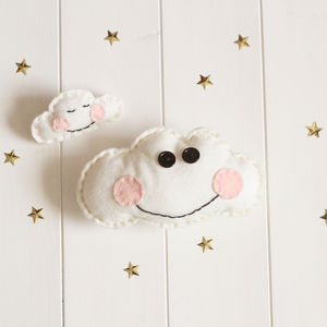 Felt Cloud Pincushion And Brooch Sewing Kit - pin cushions