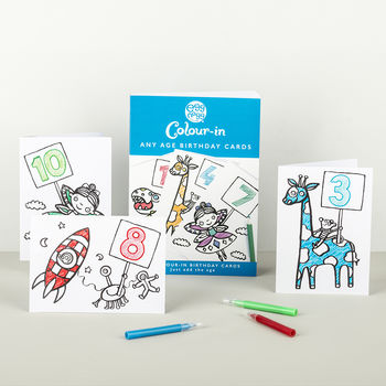 Colour In Any Age Birthday Cards