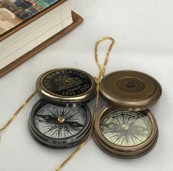Vintage Look Replica Brass Compass