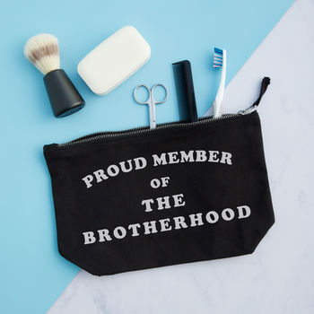 Personalised Gift For Brother / Proud Member Of Pouch