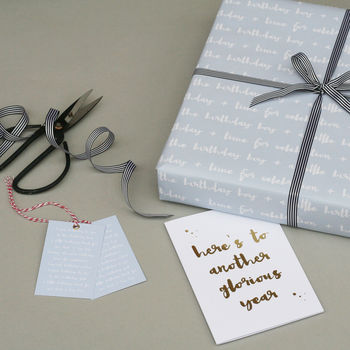 Luxury Birthday Boy Wrapping Paper Bundle