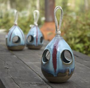 Hand Thrown Bird Feeder - birds & wildlife