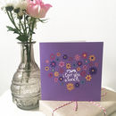 Floral Thank You Mum Card