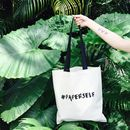 Paperself Lashes Beauty Lover Canvas Tote Bag