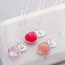 Personalised Heart Shaped Gemstone Drops