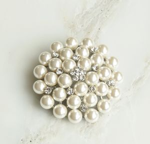 Vintage Pearl Corsage Brooch - pins & brooches
