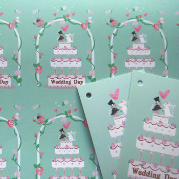 'Mouse Wedding Wrapping Paper' 'Mice Wedding Gift Wrap'