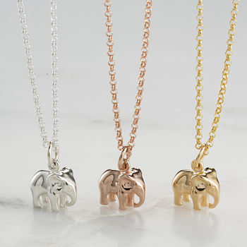 Elephant Charm Necklace With Personalised Message Card