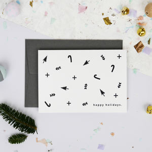 Minimal Scandinavian Christmas Card