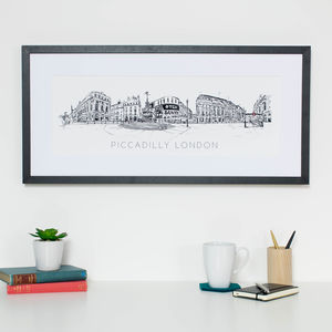London Piccadilly Skyline Print