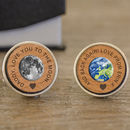 Personalised 'Daddy, Love You…' Cherry Wood Cufflinks