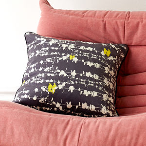 Bamena Birds And Vines Cushion - bedroom