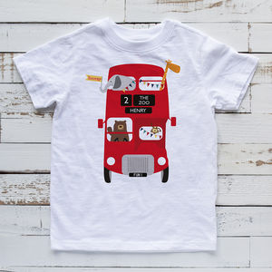 685d48768ca personalised zoo bus children s tshirt by wink design ...