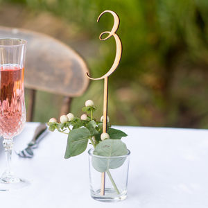 Wooden Table Numbers - natural artisan wedding trend