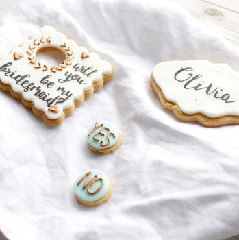 Personalised 'Be My Bridesmaid?' Sugar Biscuits
