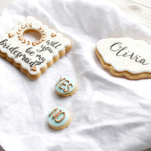 Personalised 'Be My Bridesmaid?' Sugar Biscuits - spring styling