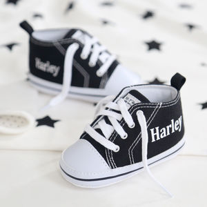 Personalised Black High Tops - clothing