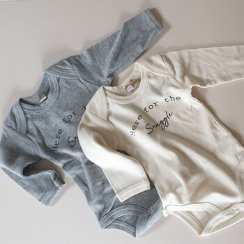 'Here For The Snuggle' Organic Cotton Baby Bodysuit