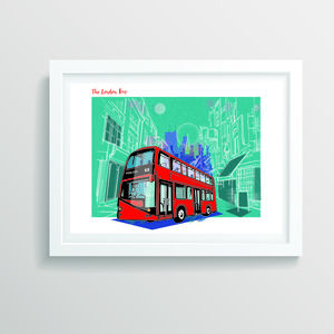 A3 London Bus Art Print